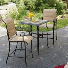 Patio High Dining Table by White Bistro Sets Patio Dining Furniture The Home Depot
