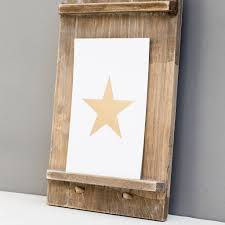 Gold Star Flag White And Gold Foil Star U0027 Small Print By The Little House Shop