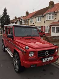 mercedes 280ge g wagon 1982 red automatic facelifted 2015 amg