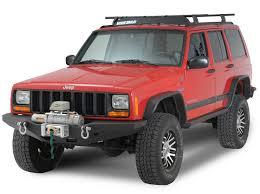 jeep xj bumper smittybilt xrc rock crawler winch front bumper with d ring mounts