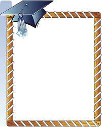 graduation cap frame royalty free silhouette of a graduation cap border clip