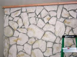 How To Build A Tray Ceiling How To Build A Standard Wall Over A Stone Wall How Tos Diy