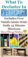 Home Storage Solutions February Declutter Calendar 15 Minute Daily Missions For Month