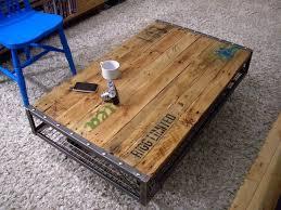 Rustic Metal And Wood Coffee Table Rustic Metal And Wood Coffee Table Raunsalon