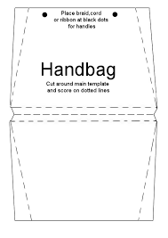 printable purse template handbag card briefcase card