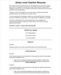 Samples Of Teacher Resumes by Preschool Teacher Resume 9 Free Word Pdf Documents Download