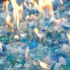 Fire Pit Glass Stones by Glass For Fire Pits Mix Color 10 Lb Fireplace Patio Propane Gas
