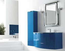 Contemporary Bathroom Design Gallery - bathroom design blue color bathroom vanities wall mount modern