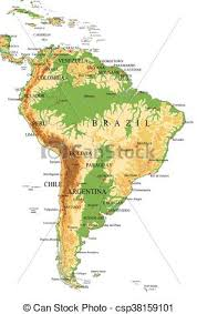 physical map of argentina south america physical map highly detailed physical map of