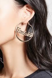 feminist earrings feminist hoop earrings forever21 1000175464
