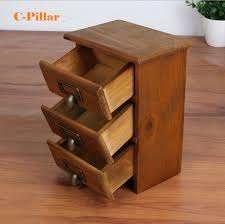 small cabinet with drawers new arrival three layer retro small wood storage cabinet drawers