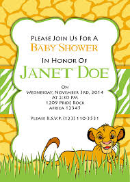 baby lion king baby shower lion king baby shower invitation templates diabetesmang info