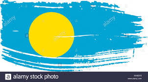 Blue Flag With Yellow Circle National Flag Palau Yellow Circle Stock Photos U0026 National Flag
