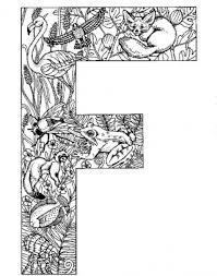 free coloring pages alphabet letters f letter with animal printing design idea alphabet coloring pages