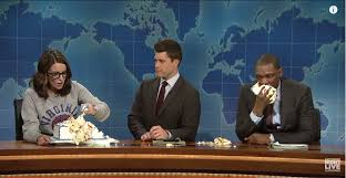 tina fey suggests sheet caking as alt violence on u0027snl u0027s weekend