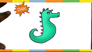 coloring page dazzling drawing of seahorse maxresdefault