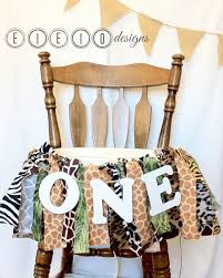 safari birthday zoo theme jungle high chair banner