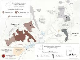 Capitol Reef National Park Map Bears Ears And Grand Staircase Monument Modifications Map Grand