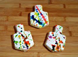 chanukah cookies colorful chanukah paint splatter cookies