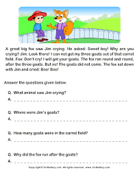 stories for comprehension reading comprehension stories 6 worksheet turtlediary