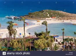 beautiful beach at nissi beach agia napa cyprus greece europe