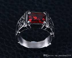 gothic ruby rings images Jewelry mens stainless steel gothic iron cross finger ring with jpg