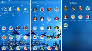 get merry christmas theme with cm launcher download install and