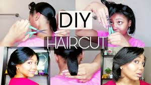 how to cut your own hair ponytail haircut method tell me how