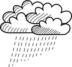 rain clouds clipart