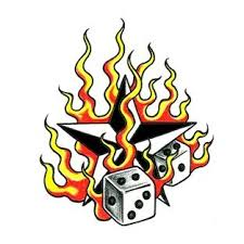 flaming dice tattoo designs http tattoowoocom indexphpmain page