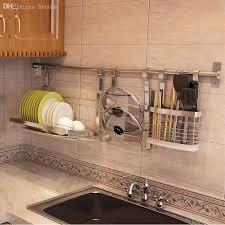 wholesale 304 stainless steel folding dish rack dish rack drain