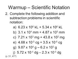 warmup u2013 scientific notation ppt video online download