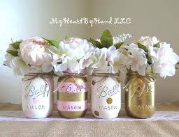jar baby shower centerpieces baby shower decorations pink and gold centerpieces jar