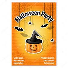 vector template for design invitation for halloween pumpkin bat