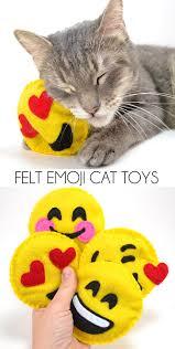 felt emoji cat toys toy cat and felting