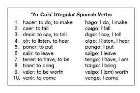 10 high frequency irregular spanish verbs i call them