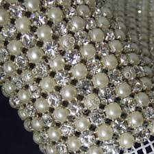 mesh ribbon wholesale wholesale 24 rows banding mesh pearl and ribbon by the