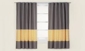 yellow striped curtains moonbay grommet curtains color golden