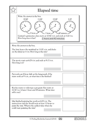 elapsed time worksheets 5th grade free worksheets library