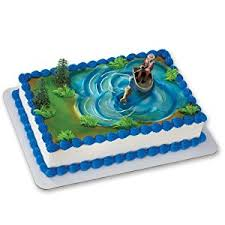 amazon com fisherman with action fish decoset cake decoration