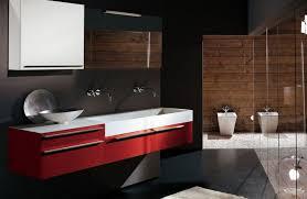Contemporary Bathroom Design Gallery - modern bathroom design ideas wall mounted clear glass mirror wall