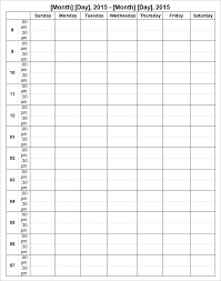 week calendar template 9 free word documents download free