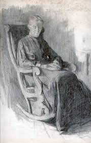 Old Man In Rocking Chair Old Man And The Sea Study 1905 By William Balfour Ker