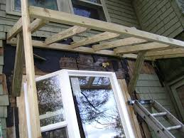 long pond endeavor company bay window with new shed roof build bay window with new shed roof build inside view framing