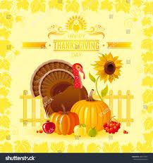 vector illustration autumn thanksgiving greeting card stock vector