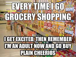 Grocery Meme - every time i go grocery shopping i get excited then remember i m