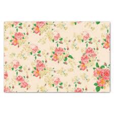floral tissue paper vintage craft tissue paper zazzle