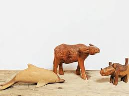 carved wooden animals wooden animal totems wood