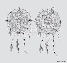 dream catcher ornament round mandalas tattoo geometric circle