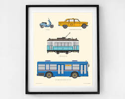 Prints For Kids Rooms by View Transportation Charts By Littlegrippersstore On Etsy